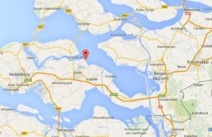 Goese Sas ligt ten noorden van Goes aan de Oosterschelde.